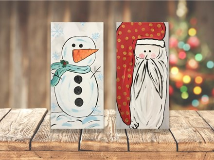 """Snowman or Santa"" Canvas Class ages 8 & up 12/19/19"