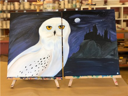 Couple's Canvas - Watchful Hedwig - 09.29.18