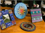 Clay and glass mosaic class