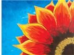 Canvas & Wine Night! Red Sunflower! 6/5/18