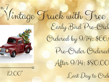 Christmas Pre-Order, Option 7: Vintage Truck with Tree