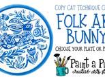 Copy Cat: Folk Art Bunny - Choose your piece