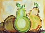 """Paint & Sip """"Pear Trio"""""""