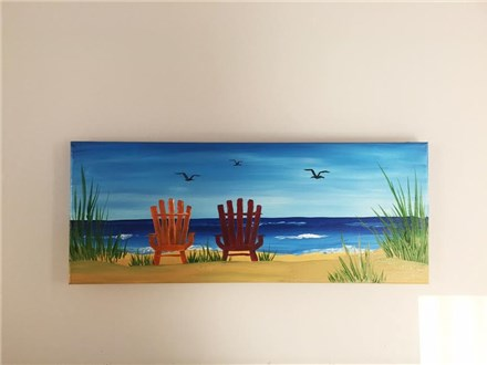 Adirondack Chairs (Fundraiser Am. Cancer Society) Canvas Class