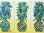 Pineapple examples - colors will vary (10x20 canvas)