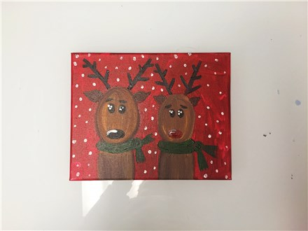REPEAT Reindeer Buddies (mommy/daddy and me ages 4+) canvas