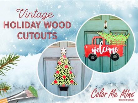 Spotted Chirstmas Tree Or Vintage Truck Wooden Door Knocker