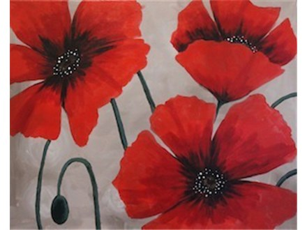 "Sip-N-Paint ""Poppy Trio"" (Thurs. 10/22)"