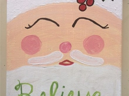 Santa Canvas Painting 12/21