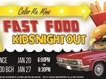 Fast Food Kids Night Out - Jan. 20, 2108 - Color Me Mine Torrance