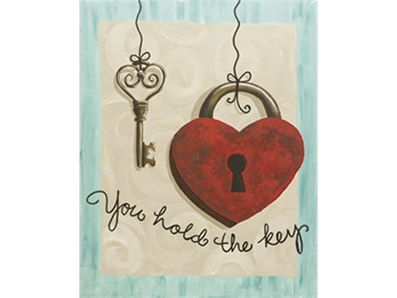 You Hold the Key Canvas Class at CozyMelts