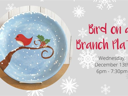 Bird on a Branch Ceramic Platter Class