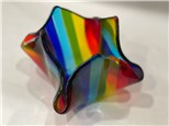 Glass Rainbow Vase