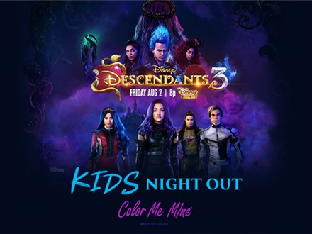 August 2019 Kids Night Out Descendants 3 Friday, August 30th 6-8PM