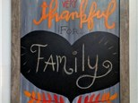 Thankful Chalkboard Canvas Class