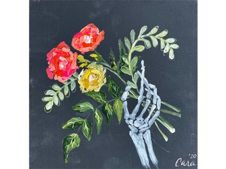 Floral Skeleton Paint Class - WR