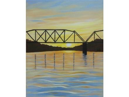 Savannah River Sunset - canvas size 16x20