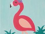 """Canvas & Cones """"Fancy Flamingo"""""""