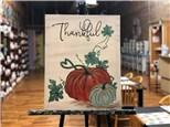 Thankful Pumpkin Canvas Class