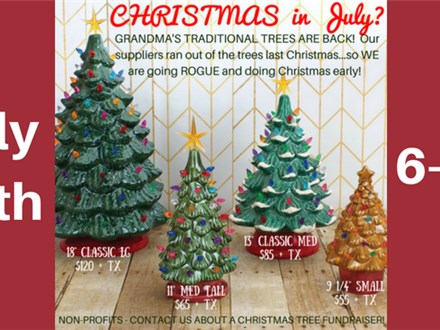 Christmas in July Special Tree SALE!