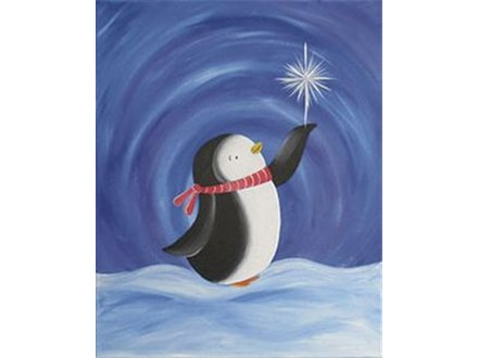 """Canvas & Coffee """"Penguin Wishes"""""""