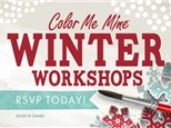 Kids Winter Workshop at Color Me Mine - Mill Creek, WA