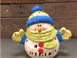 Custom Name Carved Snuggles the Snowman