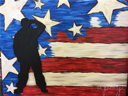 Starry Spangled Banner with Soldier Canvas Event