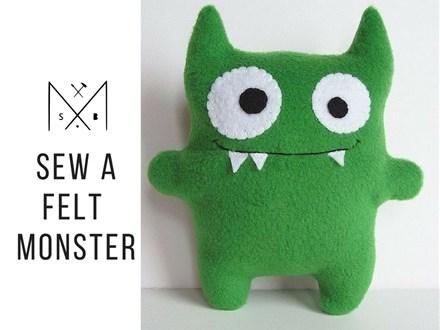 Sew a Felt Monster