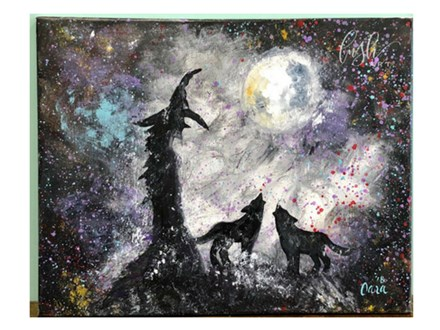 Witch & Her Wolves Paint Class