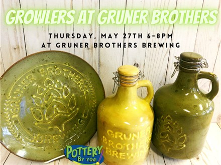 Growlers at Gruner Brothers Brewing