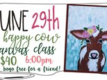 June29th Happy Cow Canvas Class