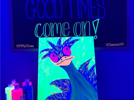 Glow in the Dark Slime & Canvas End of Year Party!