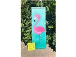 You Had Me at Merlot - Stand Tall (Flamingo on Wood) - July 19th