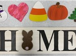 Wood Home Sign - March 19th or March 21st