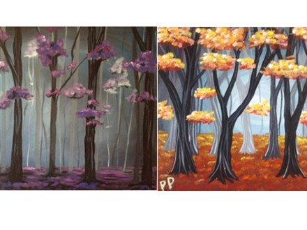"""Misty Blossoms"" or ""Autumn Woods"""