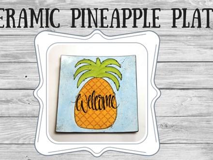 Ceramic - Pineapple Plate