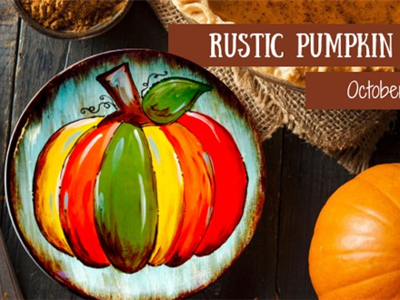Rustic Pumpkin Plate