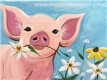 Adult Canvas - Poppy the Pig - 02.07.21
