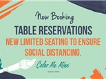 TABLE RESERVATIONS (Groups of 1-5 painters!)