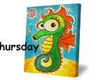 Thursday, July 26th- Seahorse Canvas- 12pm to 4pm
