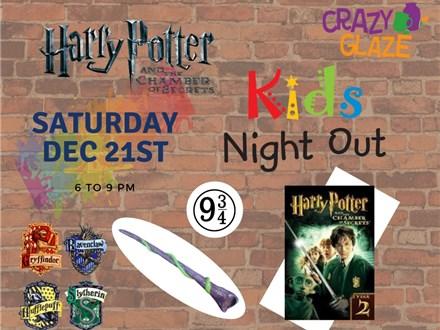 Ticket for Crazy Glaze Studio's Kids Night Out Dec 21st