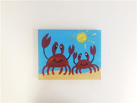 Sandy Crabbies (Mommy/Daddy and Me ages 4+) Canvas Class