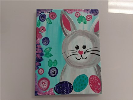 Hoppy Easter Kids Canvas Class $25 (age 6 and up)