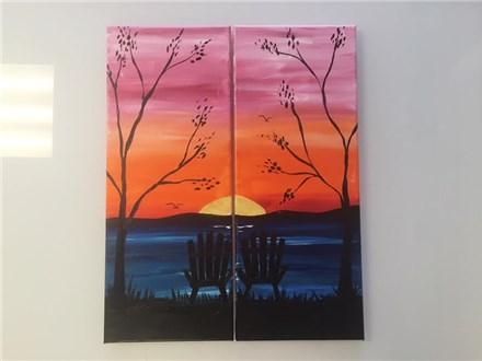 REPEAT Couples Adirondack Sunset (adult) Canvas Class