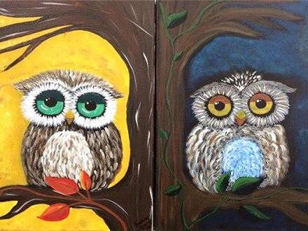 Owl Be Watching - Canvas - Paint and Sip
