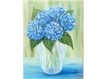 Blue Hydrangea's - 12x16 canvas