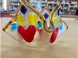 Fused Glass - Queen's Crown Votive - Evening Session - 03.15.18