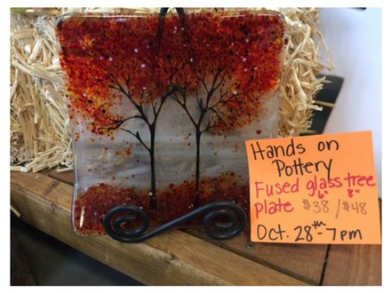 Fused Glass Tree Plate - October 28th