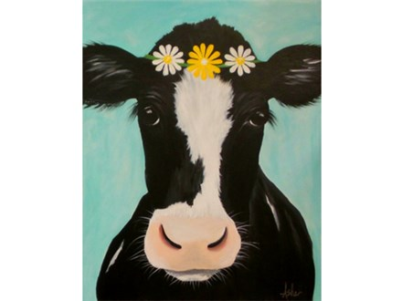 Choice Design - Cow with Daisies or with Bandanna  *Please specify upon registration.